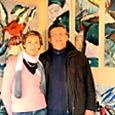 Avec Angélique Lombard-Latune, artiste peintre.
