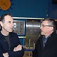 Avec Yves Angelo, président du Festival Premier Regard