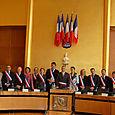 Avec Pierre-CHristophe Baguet, maire de Boulogne-Billancourt, et l'ensemble des maires-adjoints.