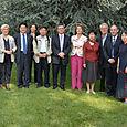 Réception d'une délégation chinoise aux jardins Albert Kahn