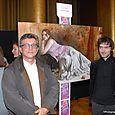 Avec l'artiste peintre Laurent Navarre.