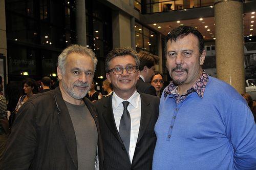Avec Francis Perrin et Henry-Jean Servat