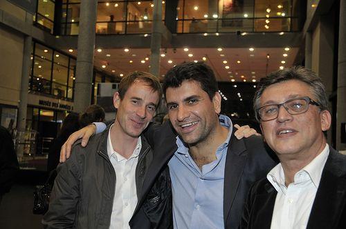 Avec Sylvain Roca, scénographe de l'exposition.