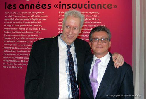 Avec François Bagnaud, biographe et secrétaire particulier de Brigitte Bardot.