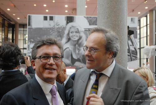 Avec Frédéric Chappey, Directeur des Musées de Boulogne-Billancourt.